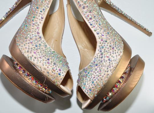 Gianmarco Lorenzi Crystal Disco Ball Pumps Blush Pink Platforms Image 9