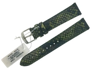 Michele MICHELE 18mm Camoflauge Snake Patent Leather Watch Band Strap MS18AA350346