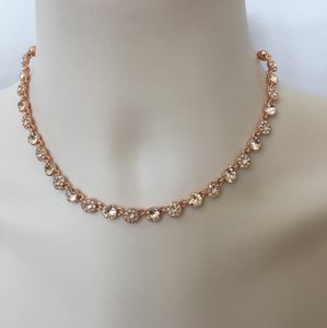 Givenchy Swarovski element crystals Rose Gold-Tone Statement Necklace