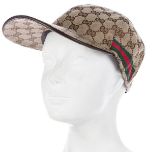 deaca9ea Gucci Beige, brown canvas Gucci GG Web baseball hat L
