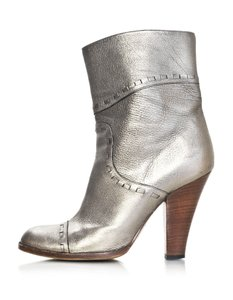 Marc Jacobs Leather Ankle bronze Boots