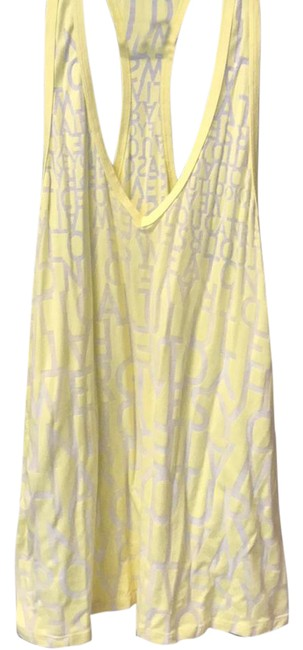 Preload https://img-static.tradesy.com/item/21994645/lululemon-yellow-with-gray-letters-racer-back-cotton-activewear-top-size-8-m-0-1-650-650.jpg