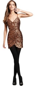 French Connection Cocktail Plunge V-neck New Years Sequin Dress