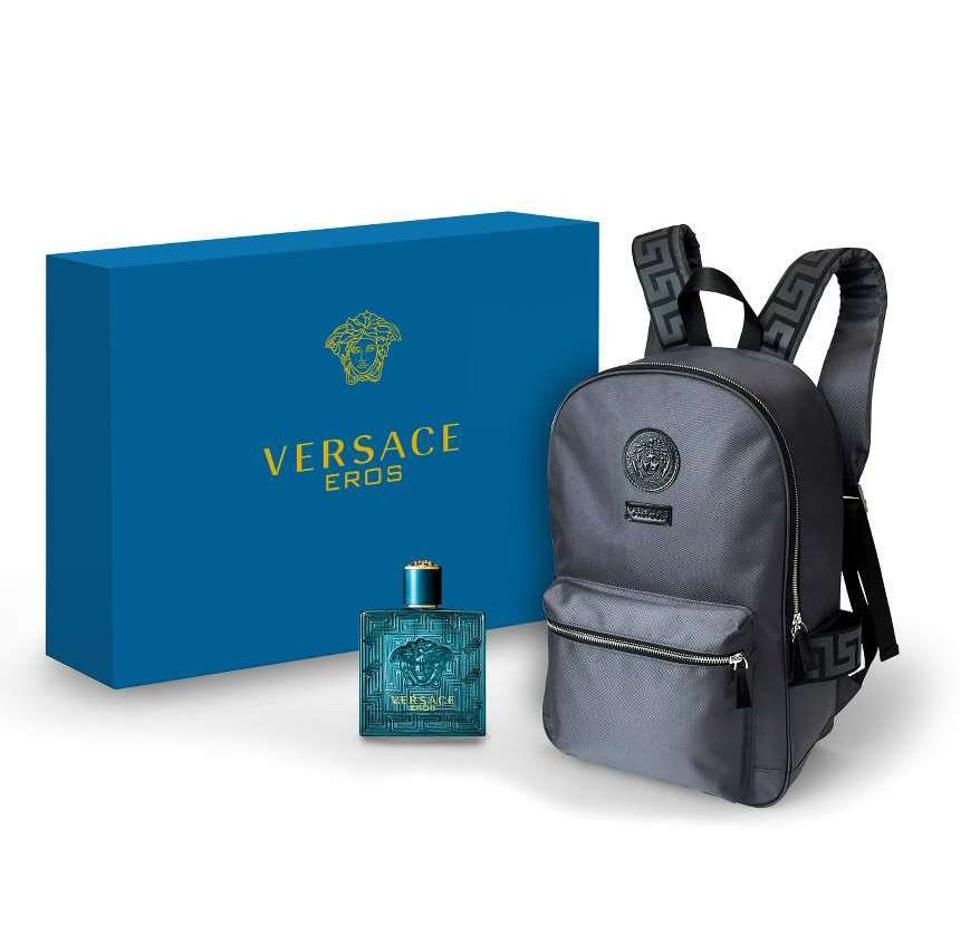 Versace Cologne Set Logo Limited Edition Gift Backpack