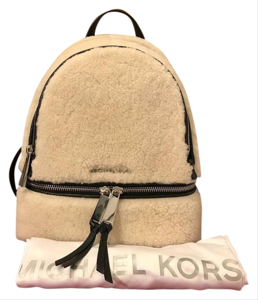 Michael Kors / Style Black / Natural Leather Backpack - Tradesy