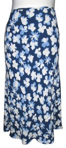 Escada Skirt Blue Floral