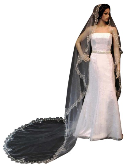 Preload https://img-static.tradesy.com/item/21994952/champagne-long-tasteful-french-royal-style-silver-or-gold-thread-cathedral-bridal-veil-0-1-540-540.jpg
