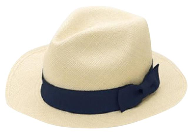 Item - Straw Navy Panama Hat
