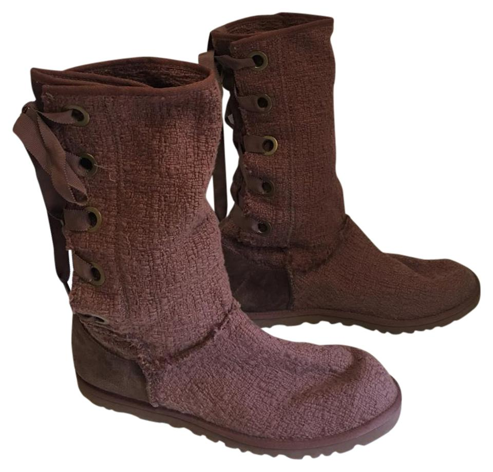 ugg australia new heirloom lace up tall brownstone boots on sale 37 off boots booties on sale. Black Bedroom Furniture Sets. Home Design Ideas