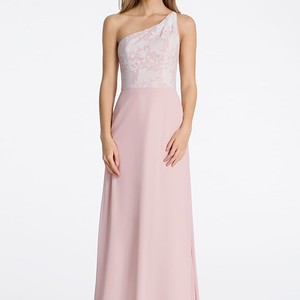 Hayley Paige Rose Chiffon 5606 Feminine Bridesmaid/Mob Dress Size 12 (L)