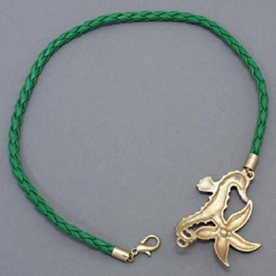 Other Crystal Accent Starfish Seahorse Green Strap Wrap Around Bracelet