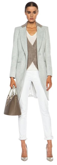 Item - Gray Shearling Vested Coat Size 2 (XS)