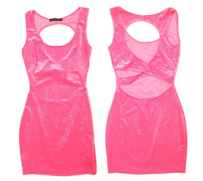 Preload https://img-static.tradesy.com/item/21995401/pink-sequin-keyhole-cut-out-bodycon-short-night-out-dress-size-4-s-0-0-650-650.jpg
