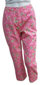 Lilly Pulitzer Vacation Capris Pink & Green