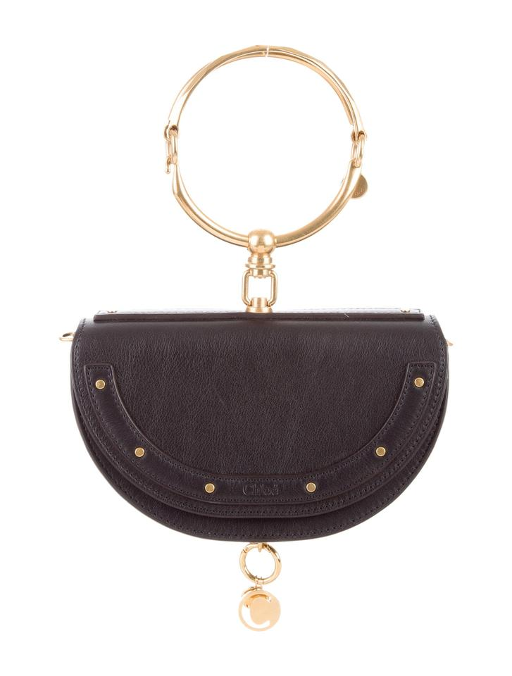 8d66c779a1ba Chloé Nile 2018 Small Minaudiere Bracelet Black Leather Cross Body ...