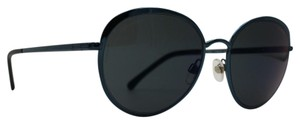 Chanel Classic Silver Blue Round Mirror Sunglasses 4206 469/Z6