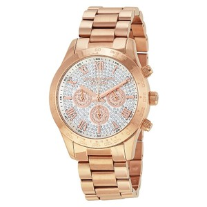 Michael Kors Michael Kors Layton Pave Dial Rose Gold-tone Ladies Watch MK5946