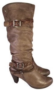 PIKOLINOS Goth Slauchy Buckles Harness BROWN Boots