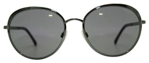 Chanel Classic Silver Green Round Mirror Sunglasses 4206 468/C0