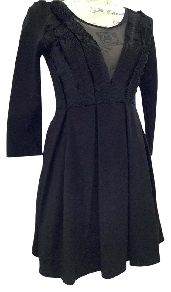 fba5ccceace H&M Black Fit & Flare Mini Short Night Out Dress Size 8 (M) - Tradesy