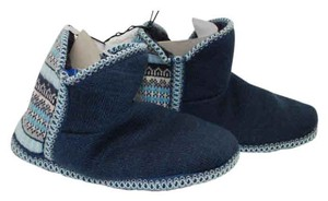 Catherines Indoor Knit Blue Flats