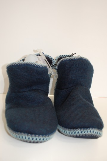 Catherines Indoor Knit Blue Flats Image 1