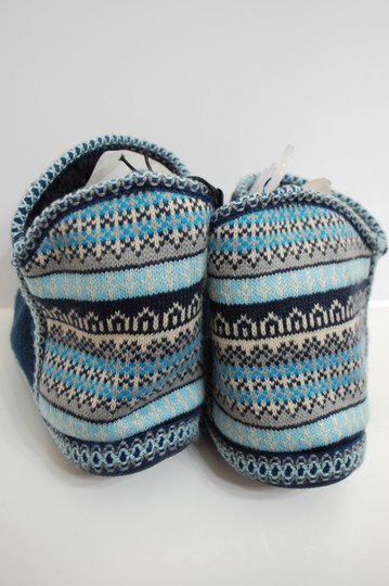 Catherines Indoor Knit Blue Flats Image 2