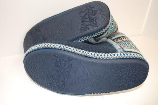 Catherines Indoor Knit Blue Flats Image 3