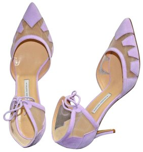 Bionda Castana Made In Italy Suede Pointy-toe Lilac Pumps