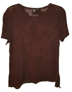 Rubbish T Sheer Burnout T Shirt Wine