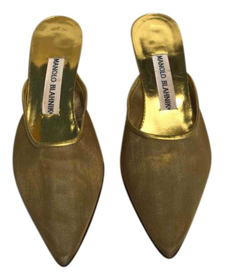 MISS Manolo Blahnik Gold Arriga Pumps widely Won highly esteemed and widely Pumps trusted at home and abroad 4b0b85