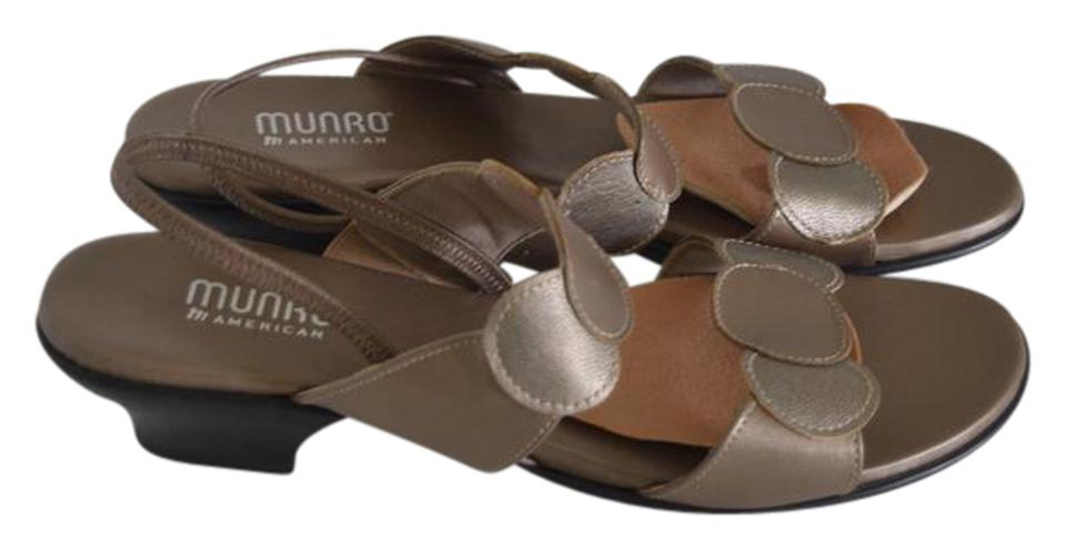 fc9c5e460e Munro American Silver Gold Eclipse Sandals Size US 9 Regular (M, B ...