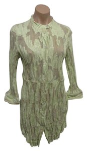 Piazza Sempione Crinkled Cotton 3/4 Sleeves Dress