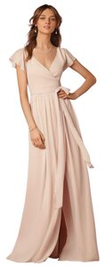 BHLDN Sand/Creme Chiffon Zola Dress/37528544 Feminine Bridesmaid/Mob Dress Size 4 (S)