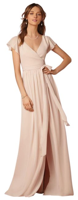 Item - Sand/Creme Chiffon Zola Dress/37528544 Feminine Bridesmaid/Mob Dress Size 4 (S)
