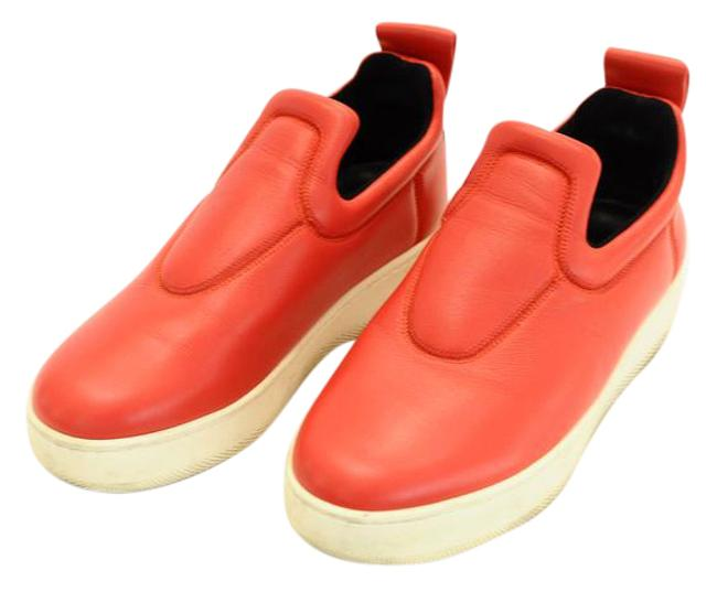 Item - Red Pull On Stretch Nappa Sneakers Size EU 36 (Approx. US 6) Regular (M, B)