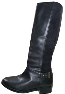 Cole Haan Leather Riding Black Boots