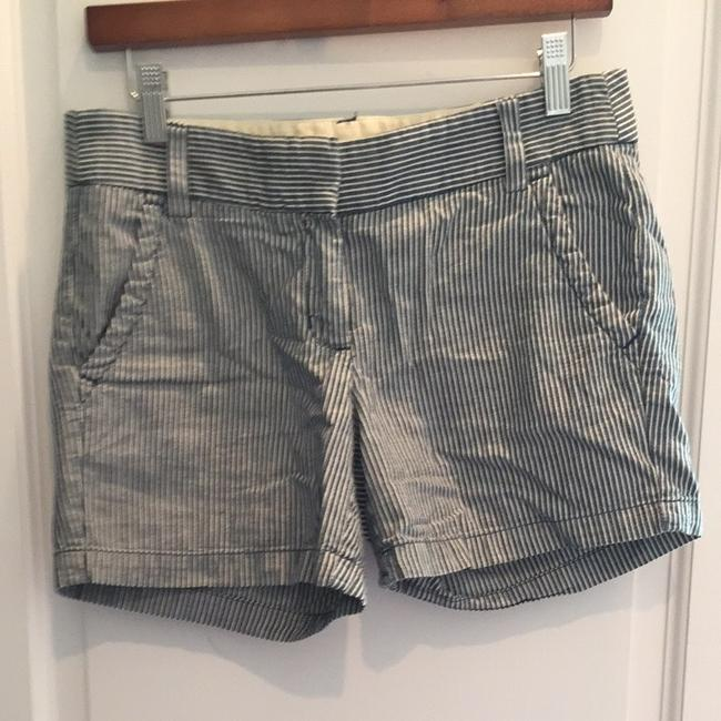 J.Crew Shorts Indigo/ Winter White Stripe