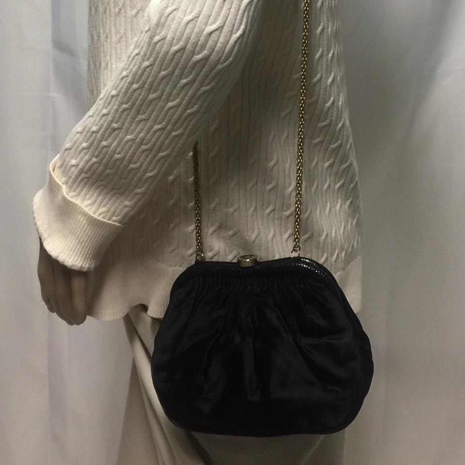 c2cd445c78db Chanel Evening Bag Rare Early 1980's Gold Chain Silk Satin Exterior Soft  Leather Interior Clutch - Tradesy
