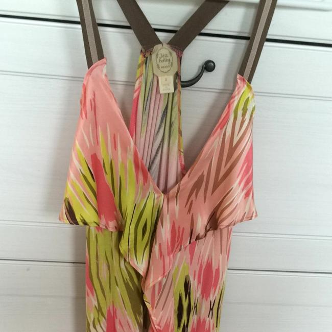 Anthropologie Top Pink And Green Image 1