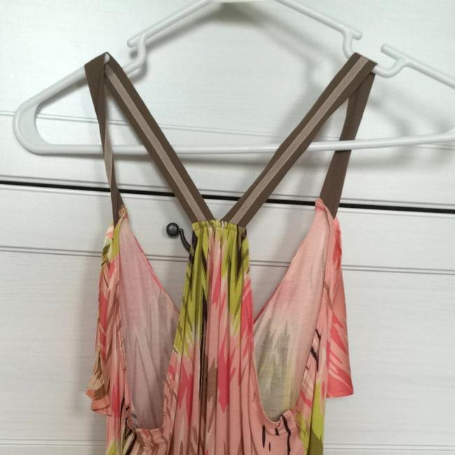 Anthropologie Top Pink And Green