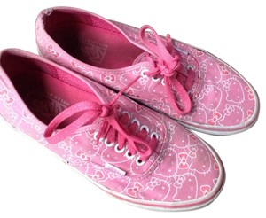 Vans Pink And White Platforms