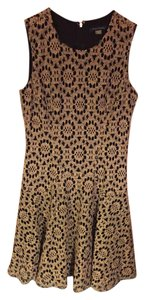 Tommy Hilfiger short dress Black and Gold Flowered Lace on Tradesy