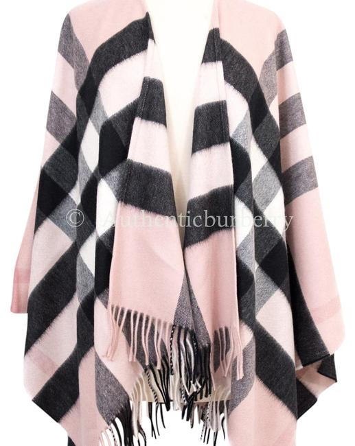 Item - Ash Rose Collette Merino Wool Cashmere Check 135x140cm Poncho/Cape Size OS (one size)