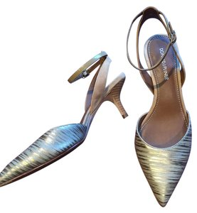 Donald J. Pliner Sandals Ankle Strap Slingback gold metallic Pumps