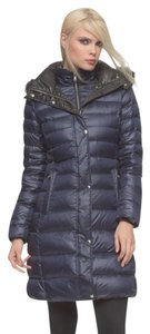 Andrew Marc Detachable Hood Very Warm Puffy Down Jacket Fur Coat