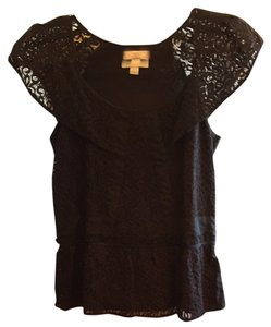 Deletta Top Black Lace