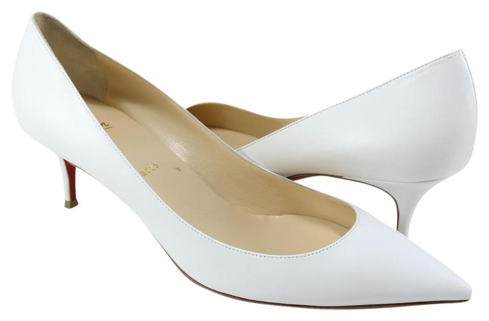brand new 7e607 8bebc Christian Louboutin White Pigalle Follies Kid Leather 55mm Low Heels A248  Pumps Size EU 41.5 (Approx. US 11.5) Regular (M, B) 26% off retail
