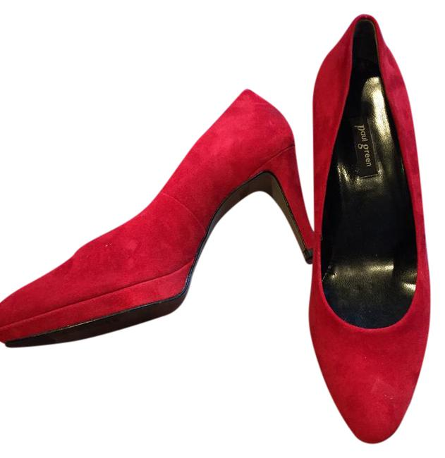 Item - Red Ceylon Pumps Size US 8 Regular (M, B)