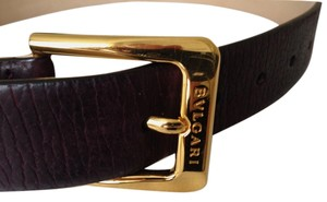 BVLGARI Bvlgari Brown Leather Belt